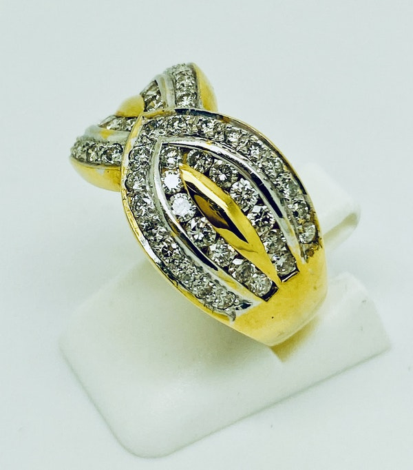 18K yellow gold 1.20ct Diamond Ring - image 2
