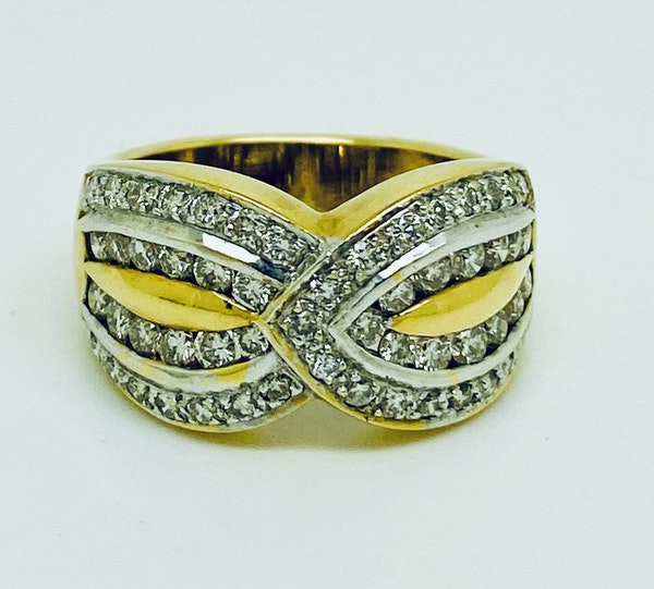 18K yellow gold 1.20ct Diamond Ring - image 3