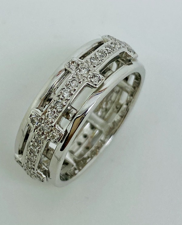 Eternity, 18K white gold 1.25ct Diamond Ring - image 1