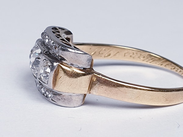 Art Deco Diamond Engagement Ring  DBGEMS - image 4