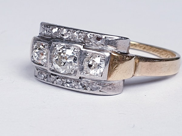 Art Deco Diamond Engagement Ring  DBGEMS - image 3