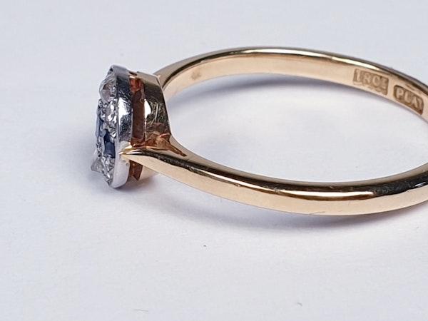 Edwardian Sapphire and Diamond Ring - image 4
