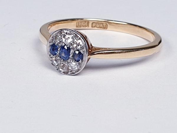 Edwardian Sapphire and Diamond Ring - image 3