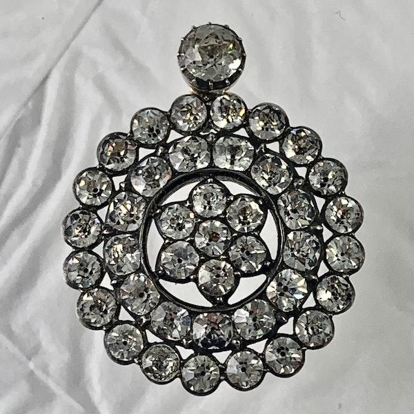 Eighteenth century silver and paste pendant - image 1