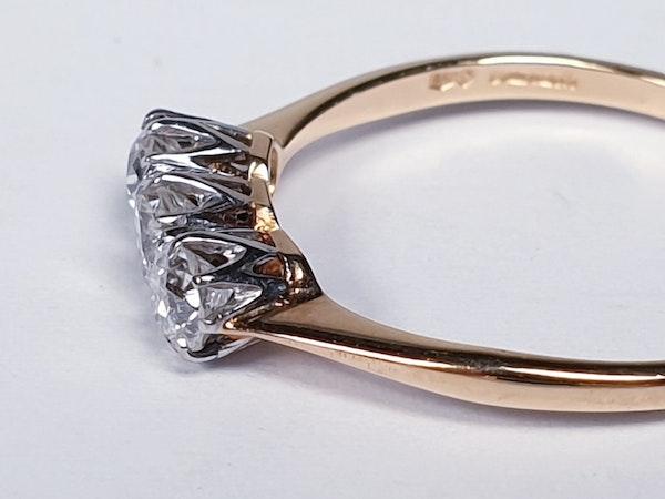 Antique Diamond Three Stone Engagement Ring  DBGEMS - image 2