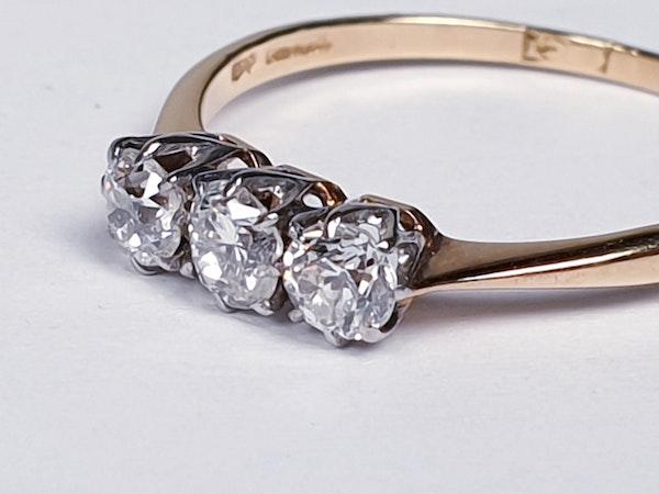 Antique Diamond Three Stone Engagement Ring  DBGEMS - image 1