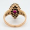 Edwardian ruby and pearl marquis shape ring - image 4