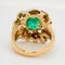Two coloured gold emerald and ruby large cocktail ring - image 4