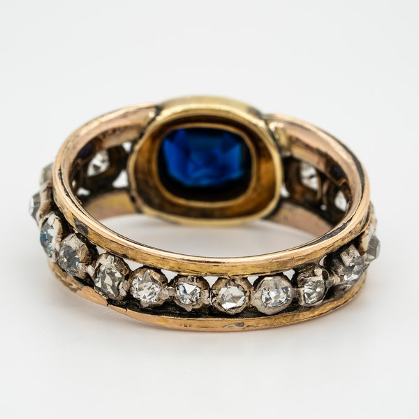 "Edwardian sapphire and diamond ""all around"" ring - image 4"