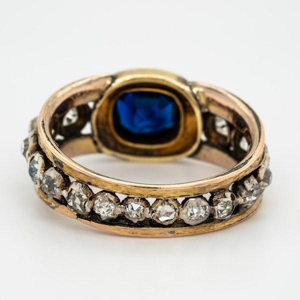 "Edwardian sapphire and diamond ""all around"" ring - image 4"