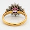 Ruby and diamond vintage cluster ring - image 4