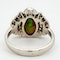 Black opal and diamond retro cluster ring - image 4
