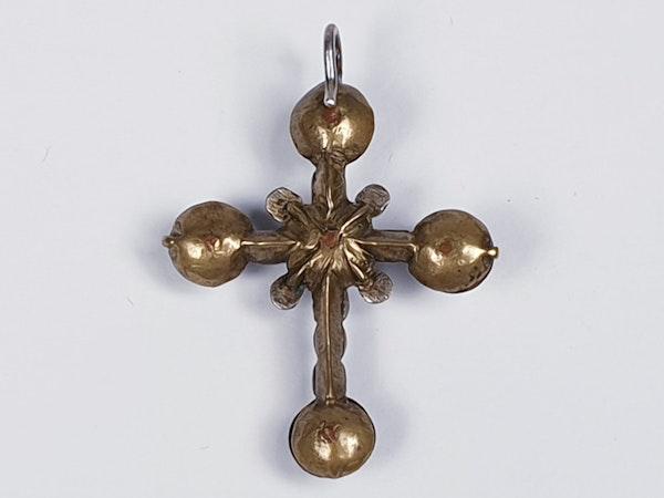 17th century rock crystal cross  DBGEMS - image 1