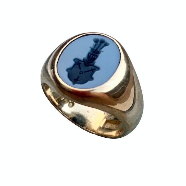 A Sardonyx Insignia Signet Ring - image 1