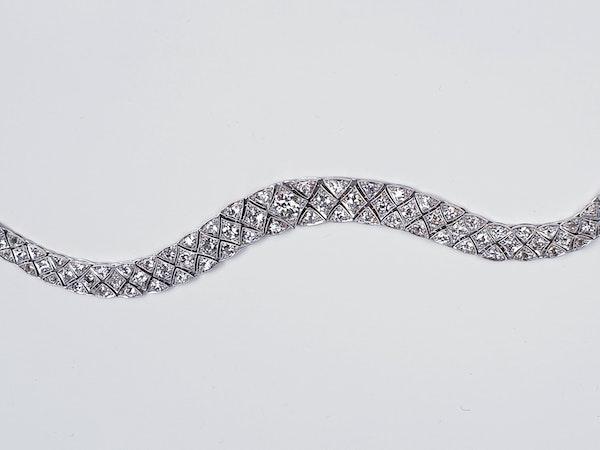 Articulated Art Deco Diamond Bracelet  DBGEMS - image 1
