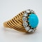 1950's Van Cleef & Arpels Paris turquoise and diamond ring signed,numbered and french marked. - image 2