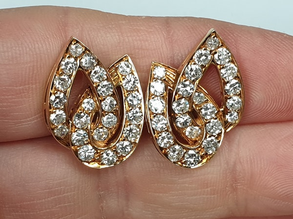 Stylish French Diamond Clip Earrings  DBGEMS - image 2
