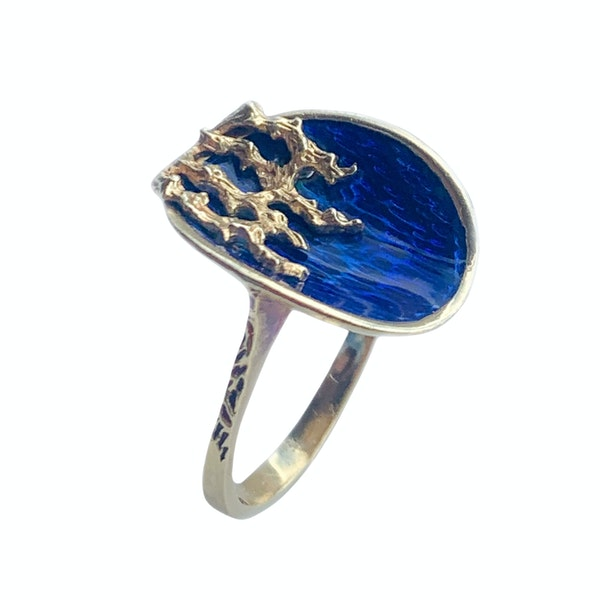An Italian 1960s Gold Fire and Ice Ring - image 2
