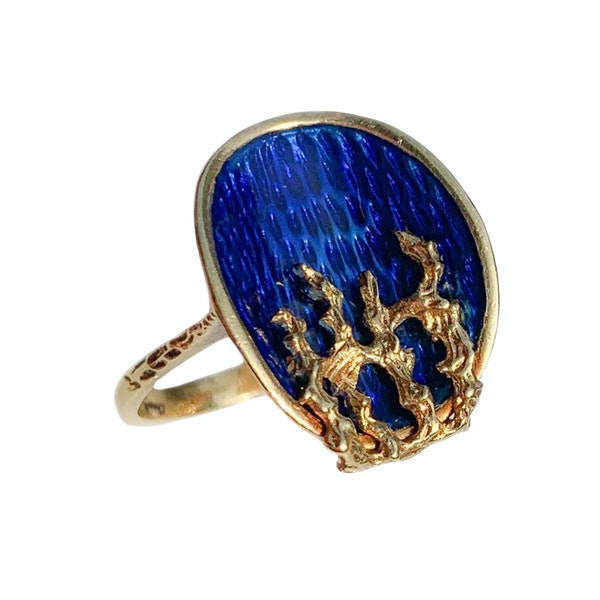 An Italian 1960s Gold Fire and Ice Ring - image 3