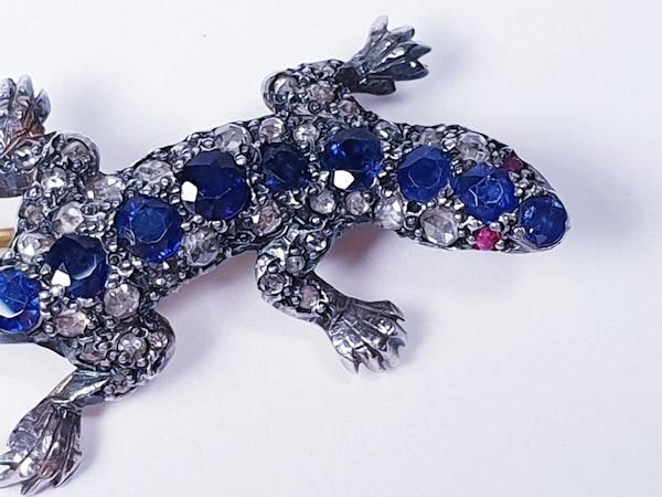 Sapphire and diamond salamander  DBGEMS - image 1