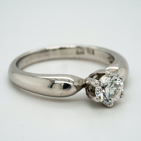 18K white gold 0.58ct Diamond Solitaire Engagement Ring. - image 2