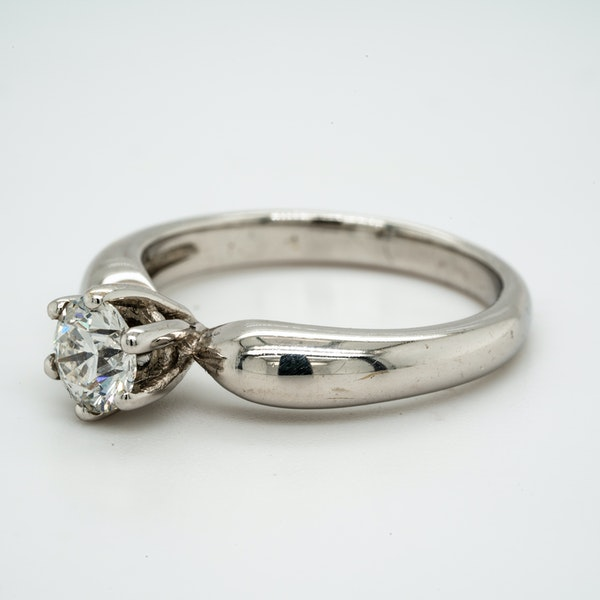 18K white gold 0.58ct Diamond Solitaire Engagement Ring. - image 3