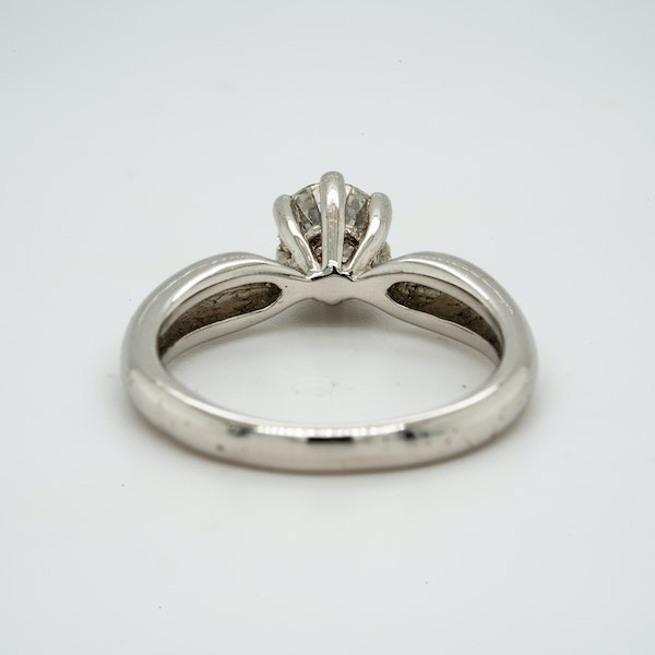 18K white gold 0.58ct Diamond Solitaire Engagement Ring. - image 4
