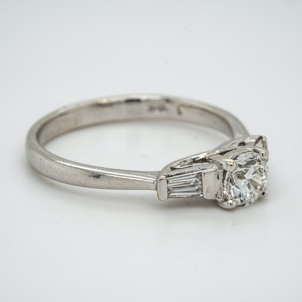 18K white gold 0.51ct Diamond Solitaire Engagement Ring. - image 2