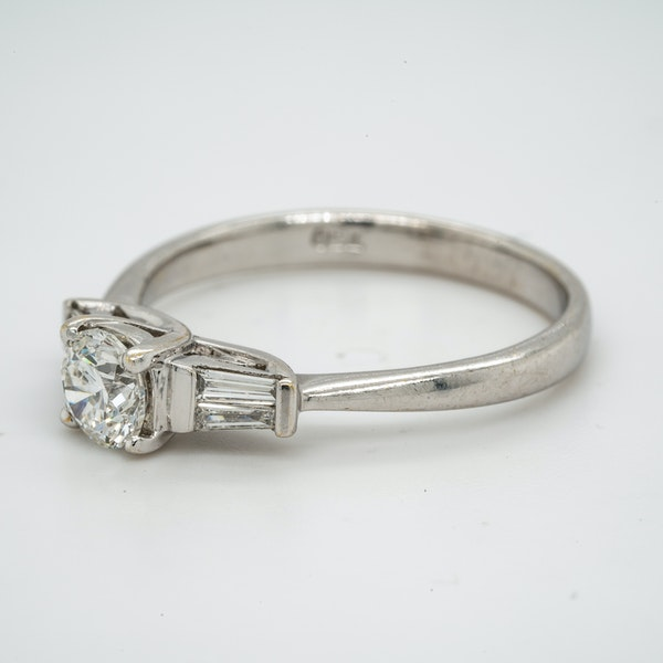 18K white gold 0.51ct Diamond Solitaire Engagement Ring. - image 3