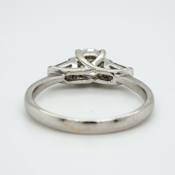 18K white gold 0.51ct Diamond Solitaire Engagement Ring. - image 4