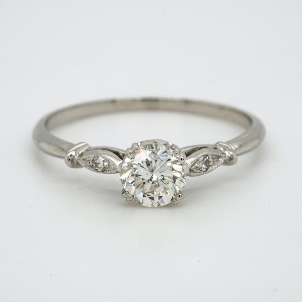 Platinum 0.55ct Diamond Solitaire Engagement Ring - image 1