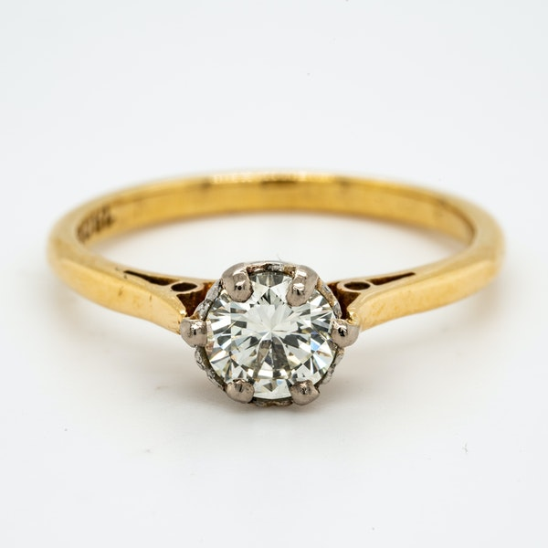18K yellow gold 0.50ct Diamond Solitaire Engagement Ring. - image 1