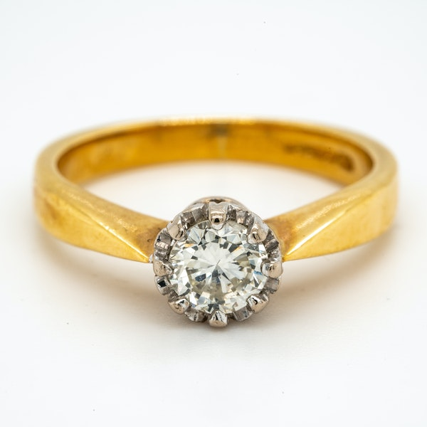 18K yellow gold 0.50ct Diamond Solitaire Engagement Ring - image 1