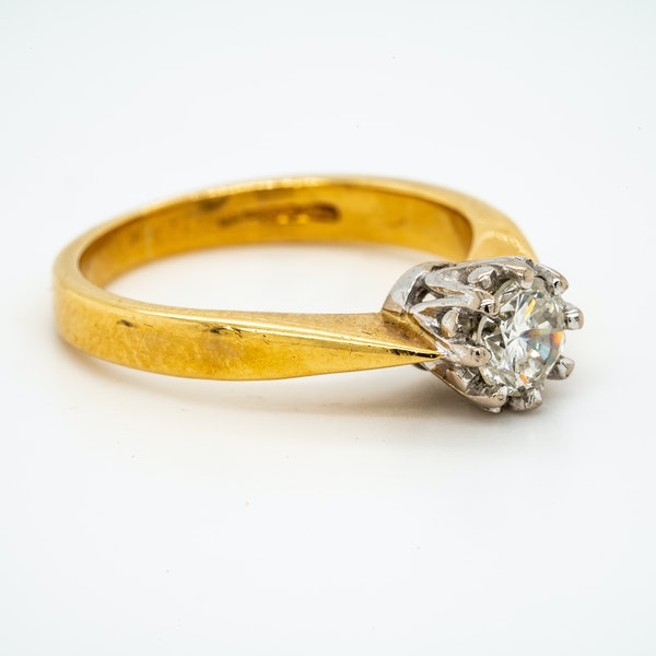 18K yellow gold 0.50ct Diamond Solitaire Engagement Ring - image 2