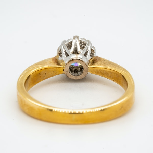 18K yellow gold 0.50ct Diamond Solitaire Engagement Ring - image 4