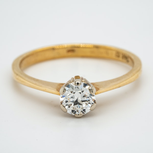 14K yellow gold 0.50ct Diamond Solitaire Engagement Ring. - image 1