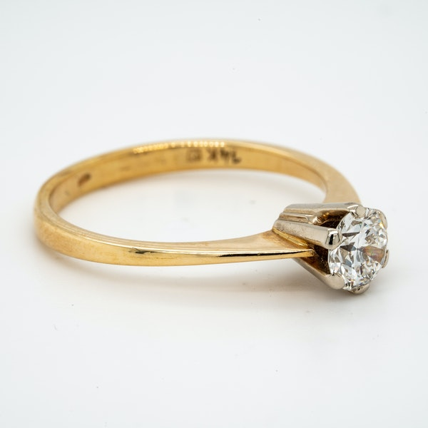 14K yellow gold 0.50ct Diamond Solitaire Engagement Ring. - image 2