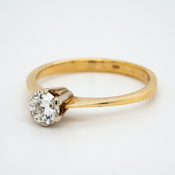14K yellow gold 0.50ct Diamond Solitaire Engagement Ring. - image 3