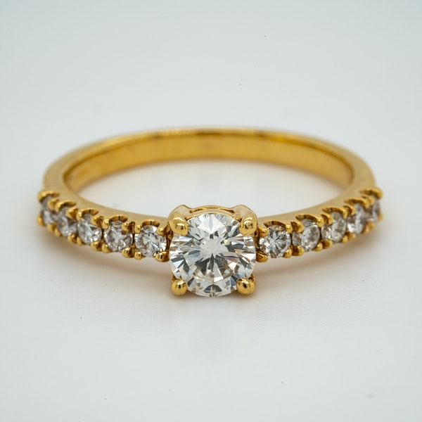 18K yellow gold 0.51ct Diamond Solitaire Engagement Ring - image 1