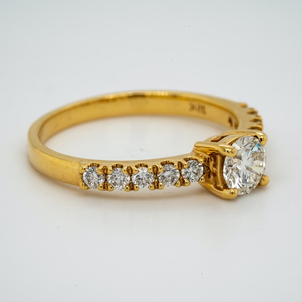 18K yellow gold 0.51ct Diamond Solitaire Engagement Ring - image 2