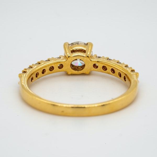 18K yellow gold 0.51ct Diamond Solitaire Engagement Ring - image 4
