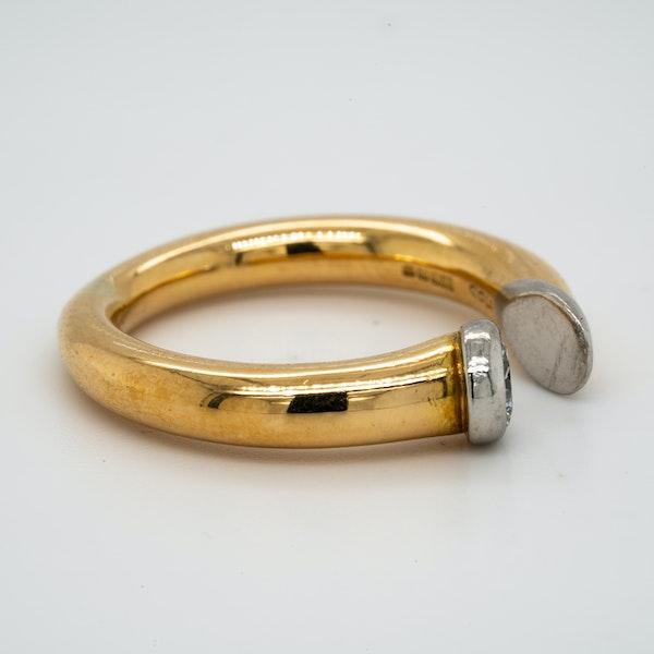 18K yellow gold 0.40ct Diamond Ring - image 2