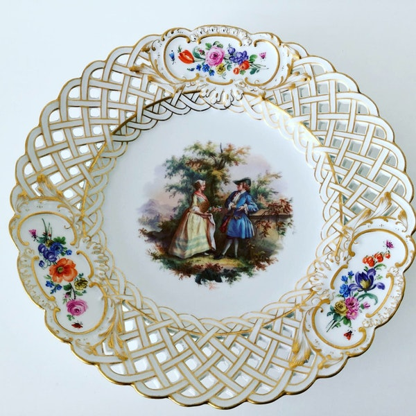 Reticulated Meissen plate - image 1