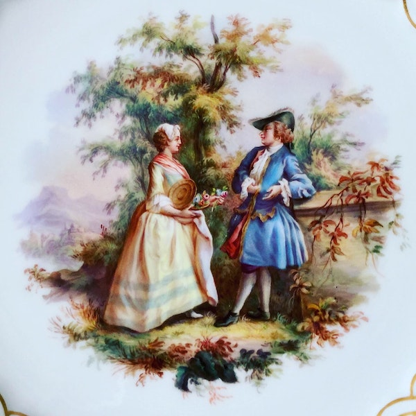 Reticulated Meissen plate - image 2