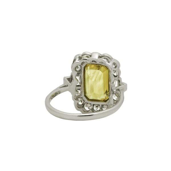 Yellow Sapphire and Diamond Ring - image 4