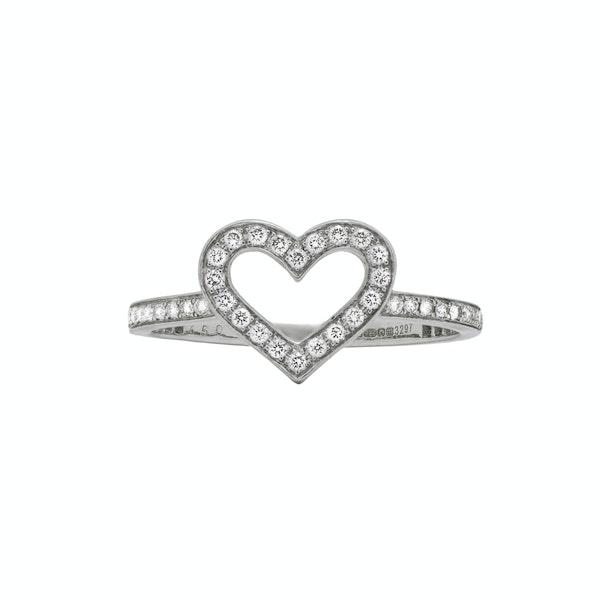 Heart Diamond Ring - image 1
