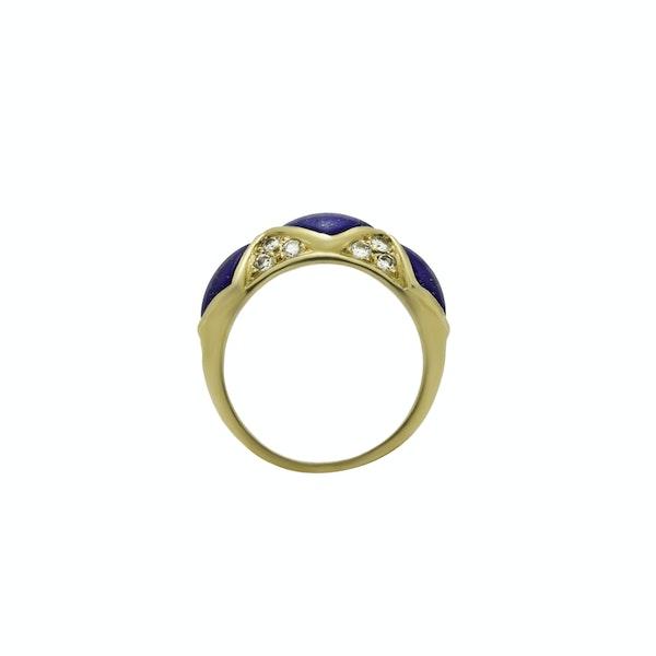 Lapis Lazuli Diamond Gold Ring - image 2