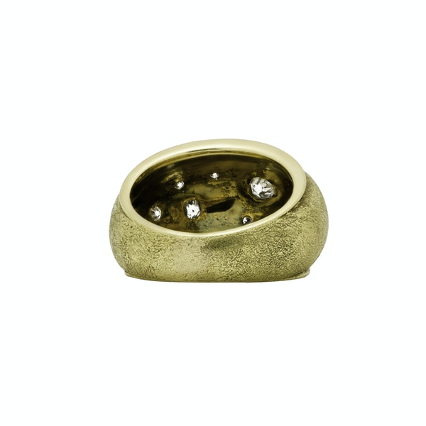 Gold and Diamond Bombay Ring - image 2