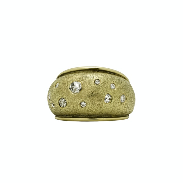 Gold and Diamond Bombay Ring - image 1