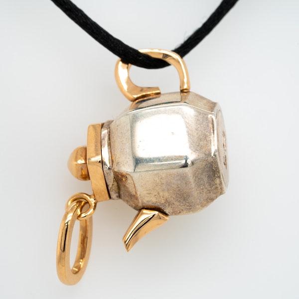 Pomellato Tea O'Clock Silver and Rose Gold Pendant - image 1
